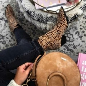Ascot and Hart | Tan leopard Booties - 7.5
